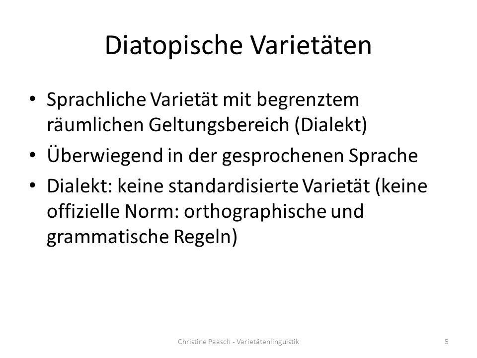 Diatopische Varietäten