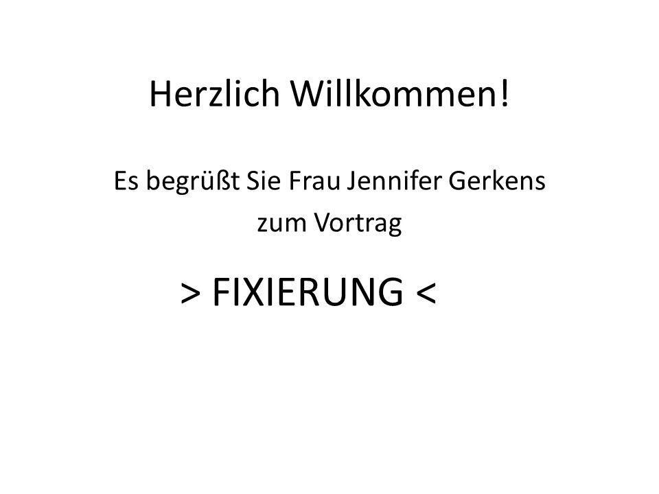 Es begrüßt Sie Frau Jennifer Gerkens zum Vortrag