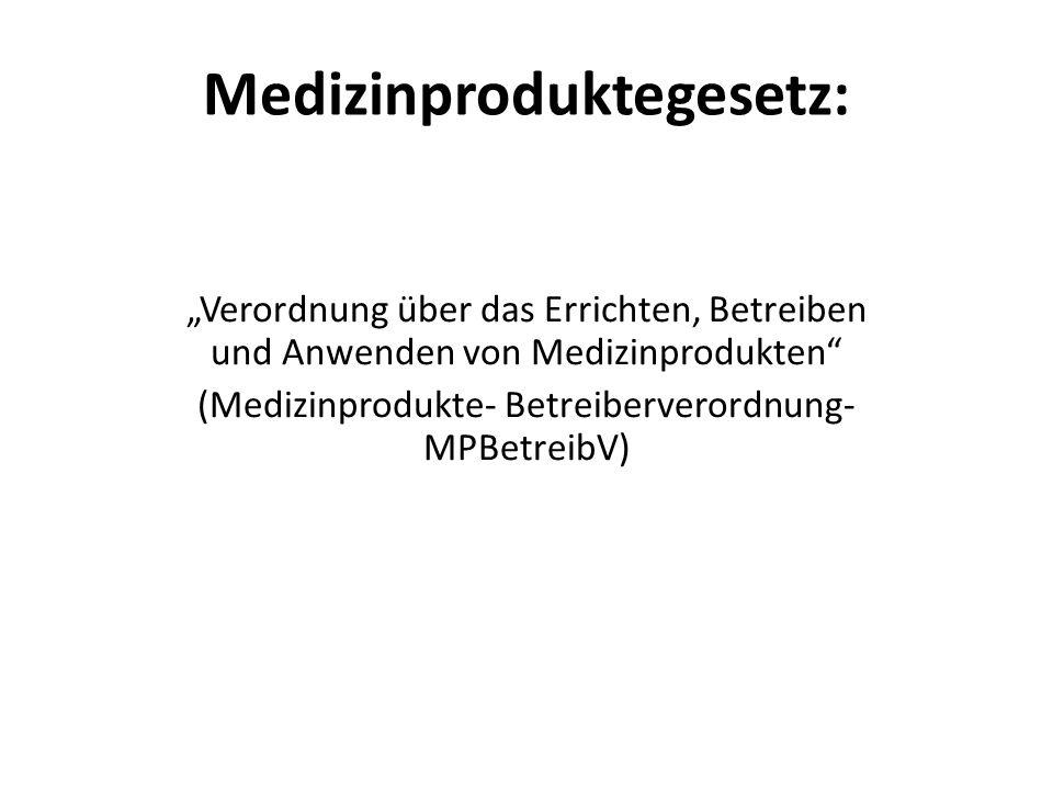 Medizinproduktegesetz: