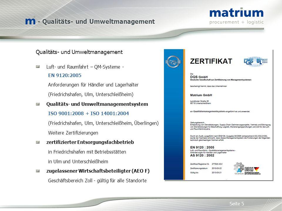 - Qualitäts- und Umweltmanagement