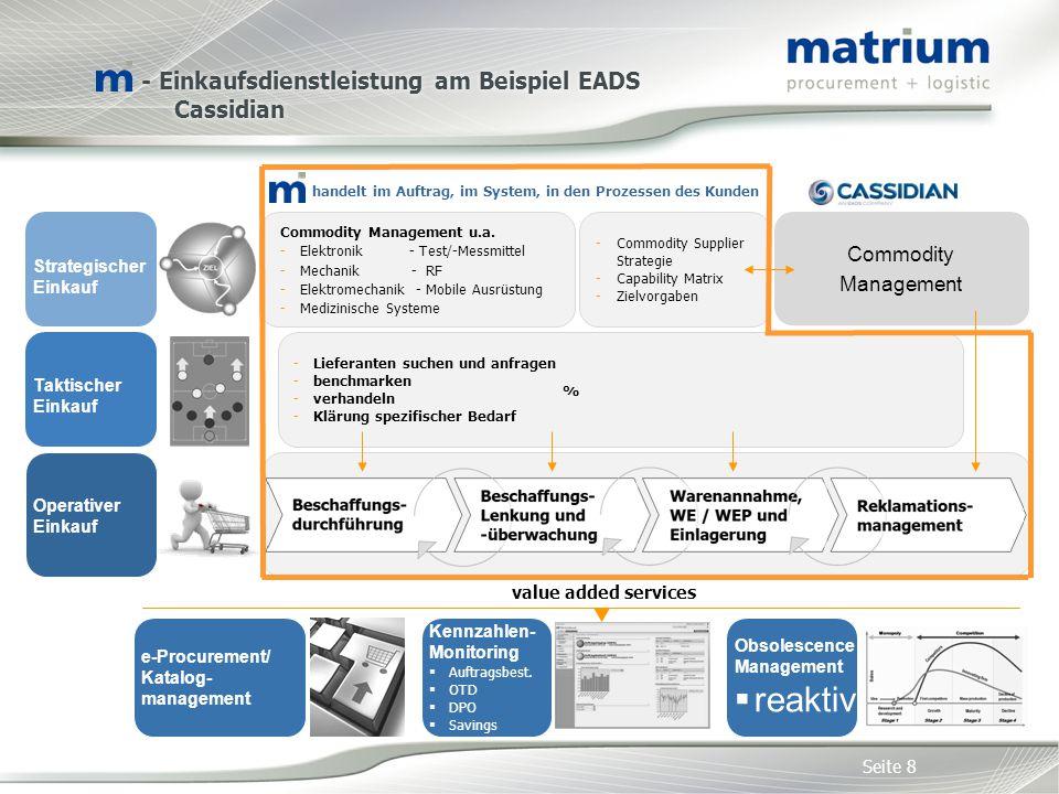 - Einkaufsdienstleistung am Beispiel EADS Cassidian