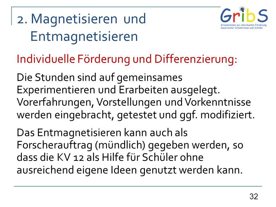2. Magnetisieren und Entmagnetisieren
