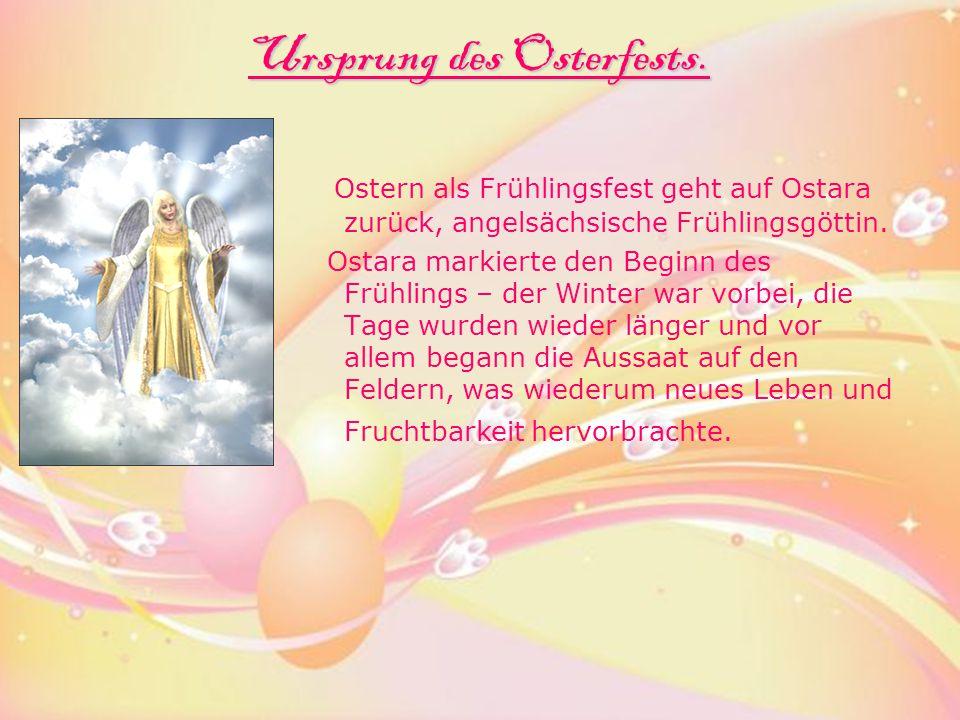 Ursprung des Osterfests.