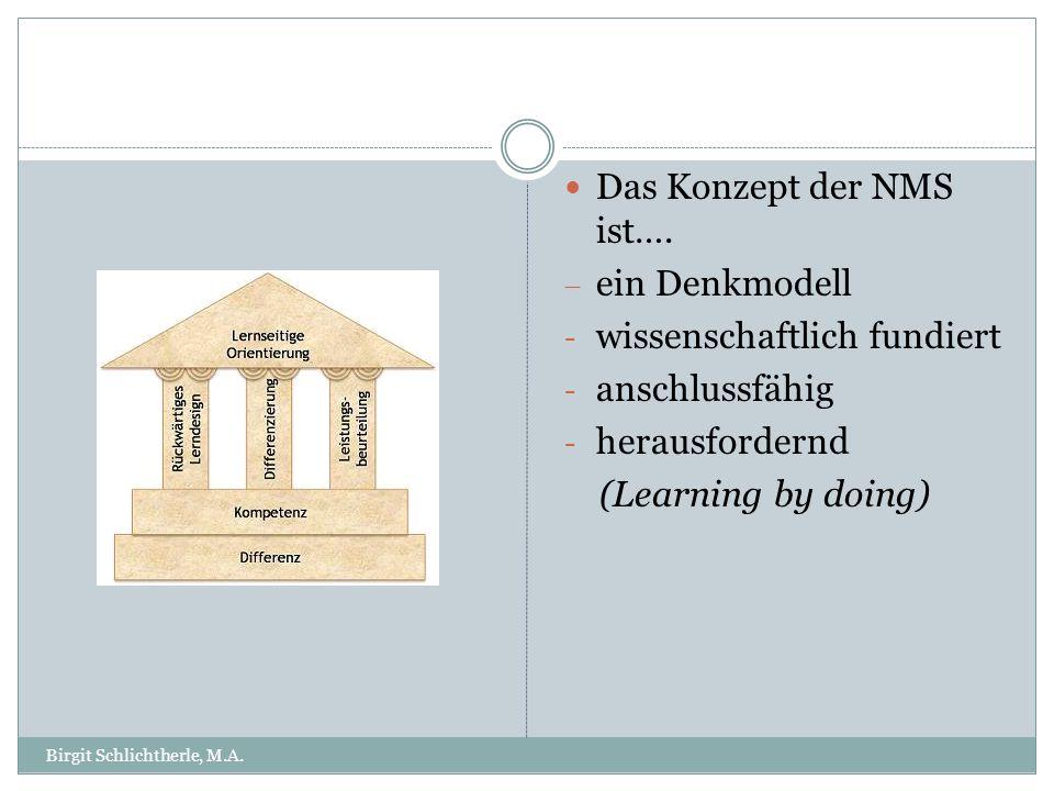 Das Konzept der NMS ist…. ein Denkmodell wissenschaftlich fundiert