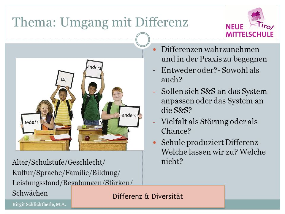 Thema: Umgang mit Differenz