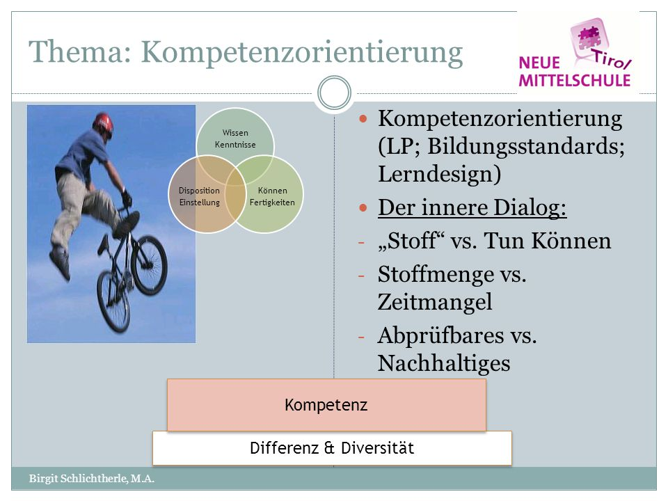 Thema: Kompetenzorientierung