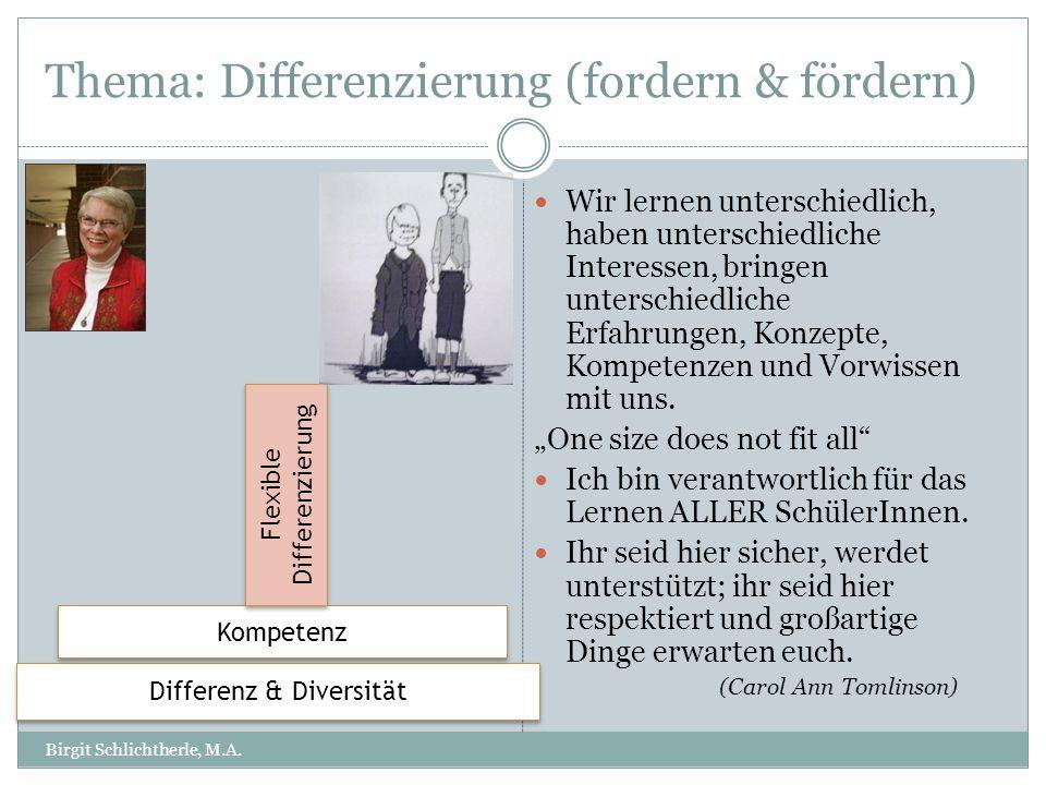 Thema: Differenzierung (fordern & fördern)
