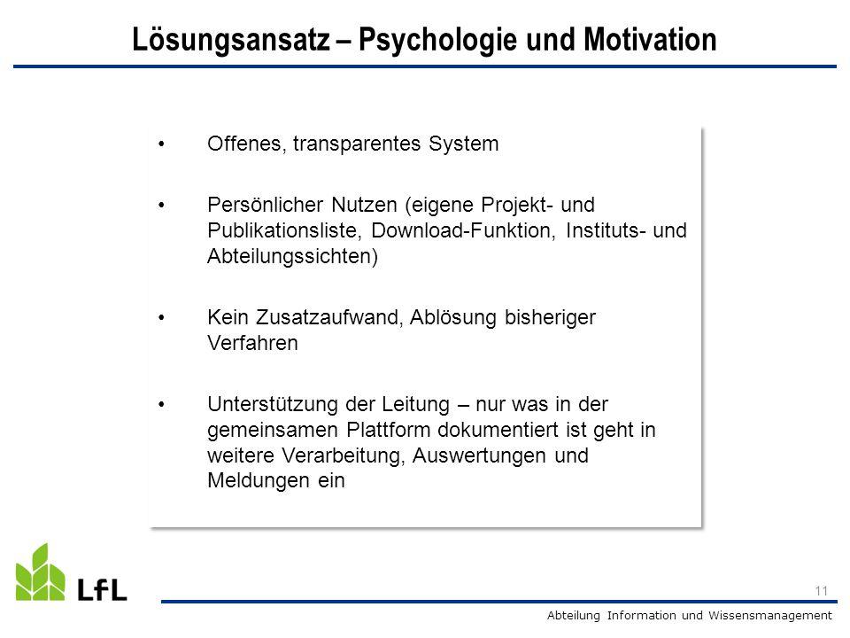 Lösungsansatz – Psychologie und Motivation