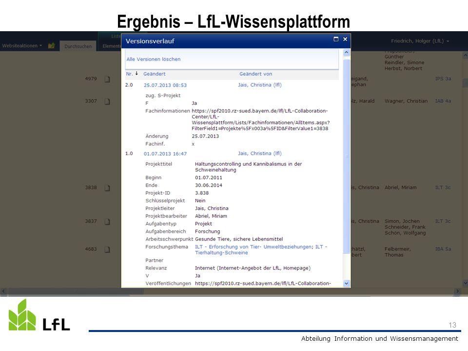 Ergebnis – LfL-Wissensplattform
