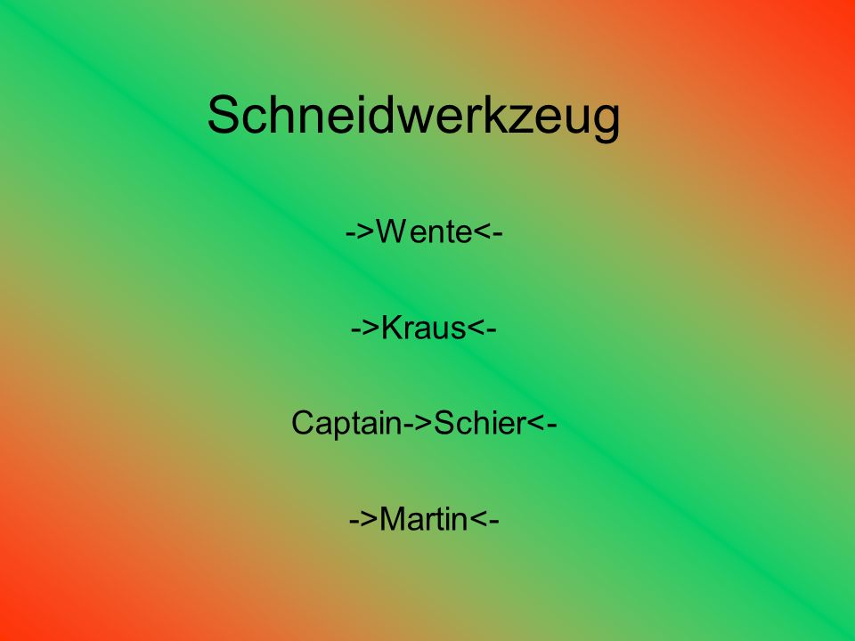 Captain->Schier<-