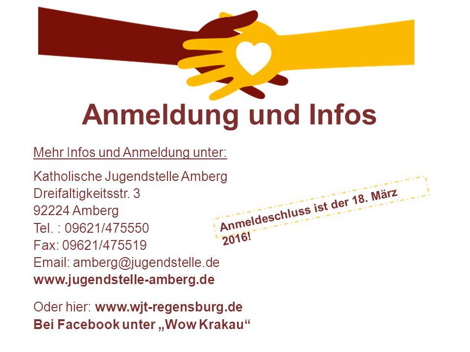 Anmeldung und Infos Mehr Infos und Anmeldung unter: