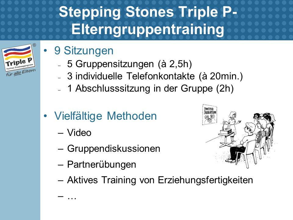 Stepping Stones Triple P-Elterngruppentraining