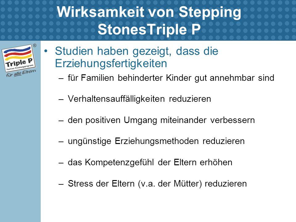 Wirksamkeit von Stepping StonesTriple P