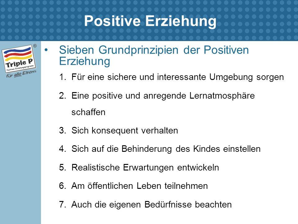 Positive Erziehung Sieben Grundprinzipien der Positiven Erziehung