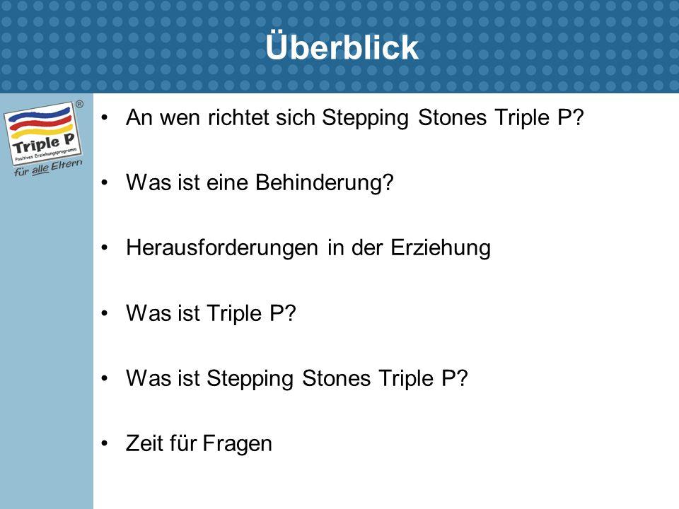 Überblick An wen richtet sich Stepping Stones Triple P