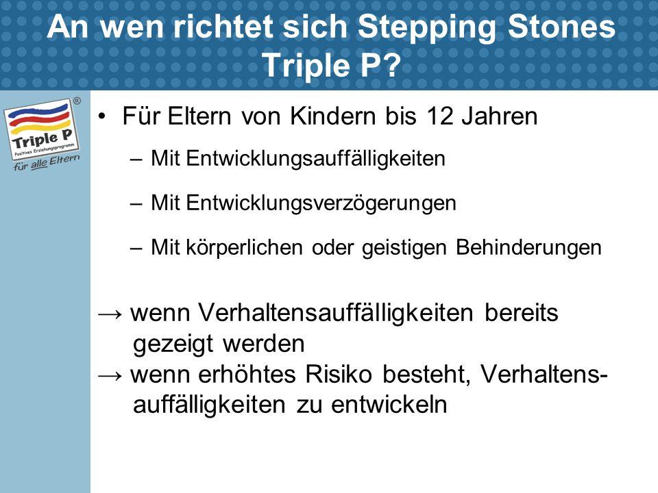 An wen richtet sich Stepping Stones Triple P