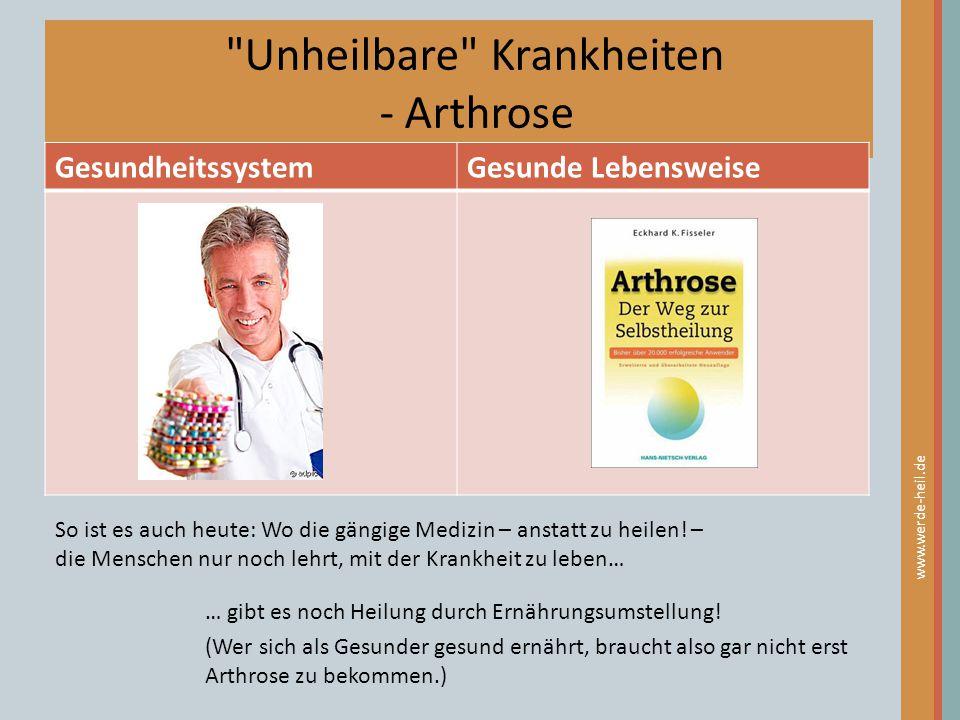 Unheilbare Krankheiten - Arthrose
