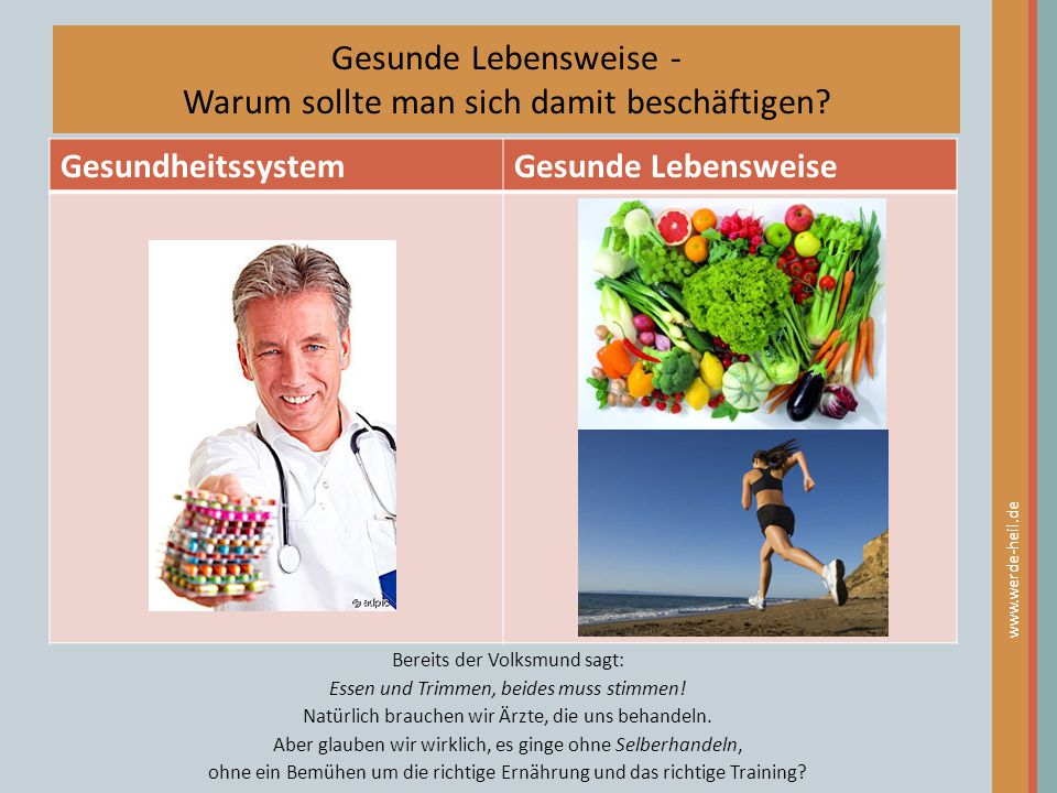 Gesunde Lebensweise - Warum sollte man sich damit beschäftigen
