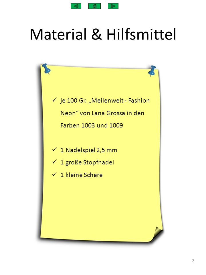 Material & Hilfsmittel