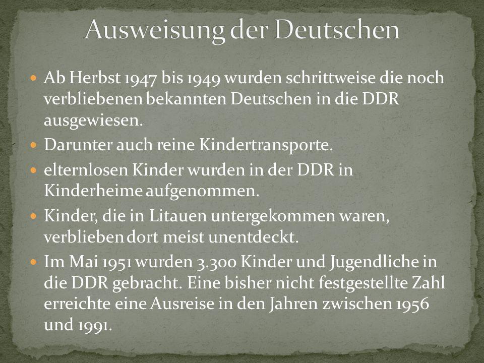 Ausweisung der Deutschen