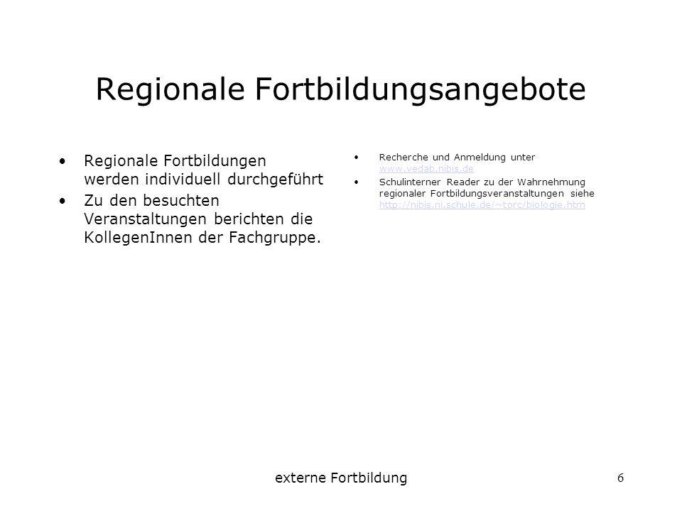 Regionale Fortbildungsangebote