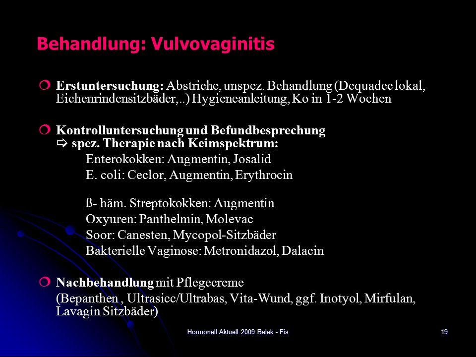 Behandlung: Vulvovaginitis