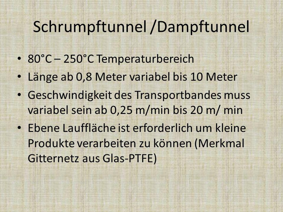 Schrumpftunnel /Dampftunnel