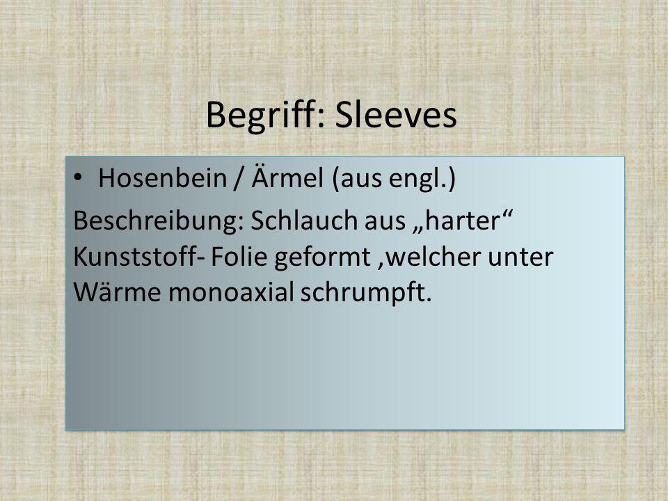 Begriff: Sleeves Hosenbein / Ärmel (aus engl.)