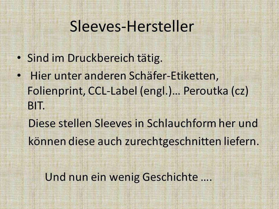 Sleeves-Hersteller Sind im Druckbereich tätig.