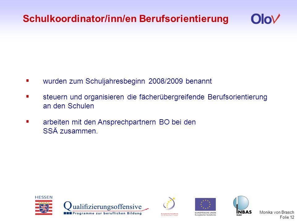 Schulkoordinator/inn/en Berufsorientierung