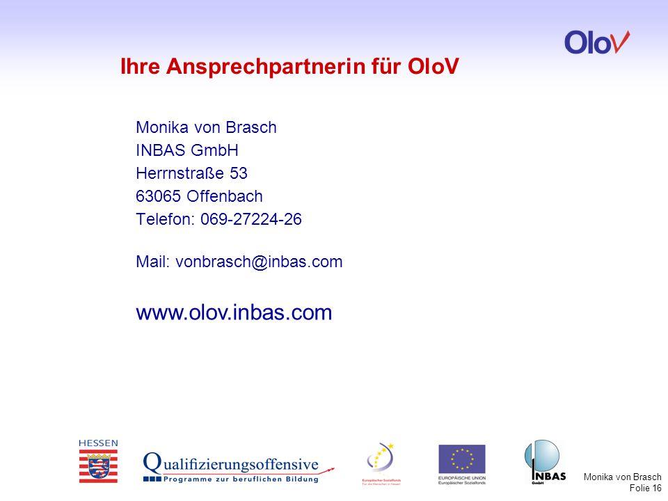 Ihre Ansprechpartnerin für OloV