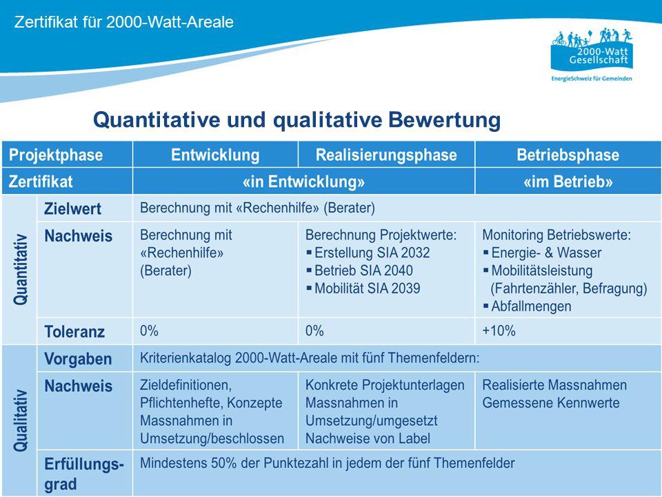 Quantitative und qualitative Bewertung