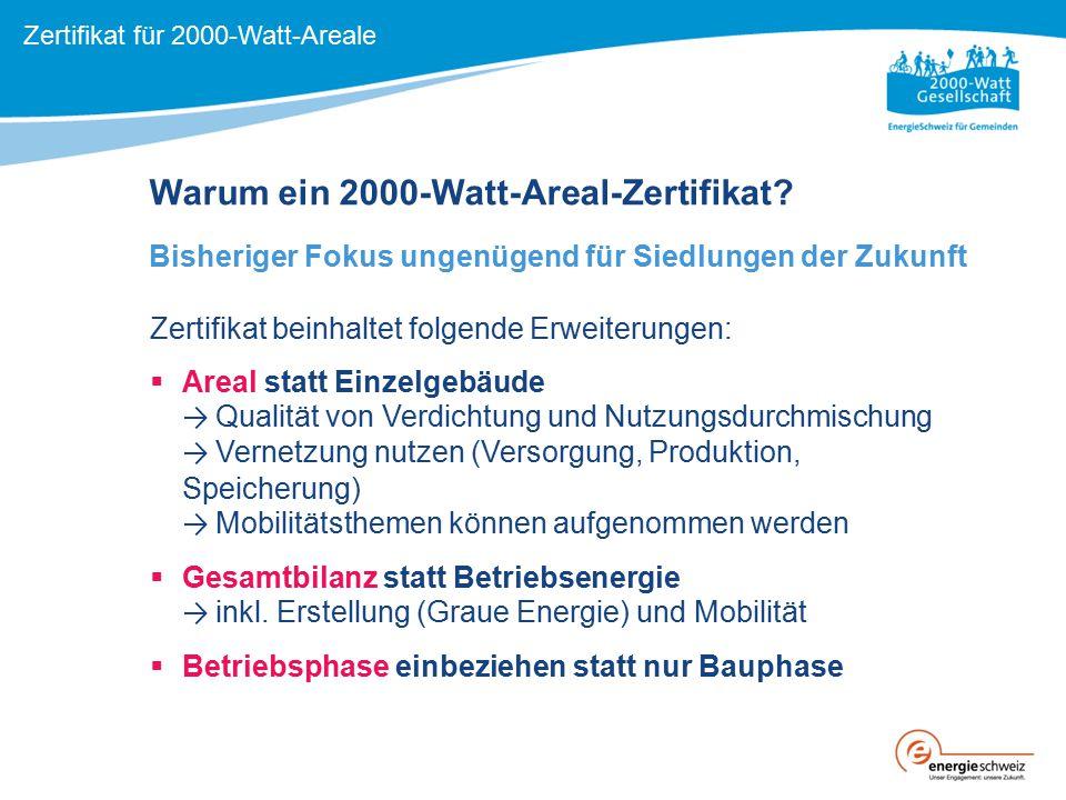 Warum ein 2000-Watt-Areal-Zertifikat