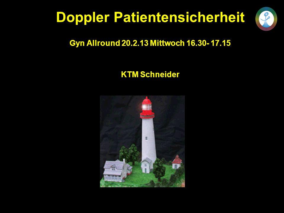 Doppler Patientensicherheit Gyn Allround 20.2.13 Mittwoch 16.30- 17.15