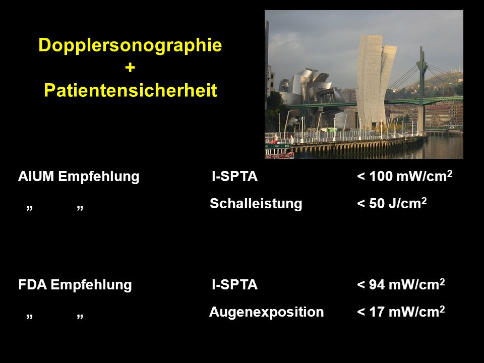 Dopplersonographie + Patientensicherheit