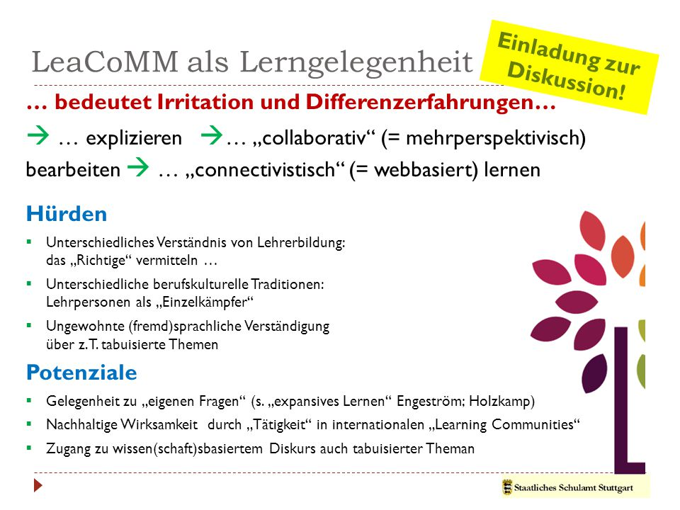 LeaCoMM als Lerngelegenheit …