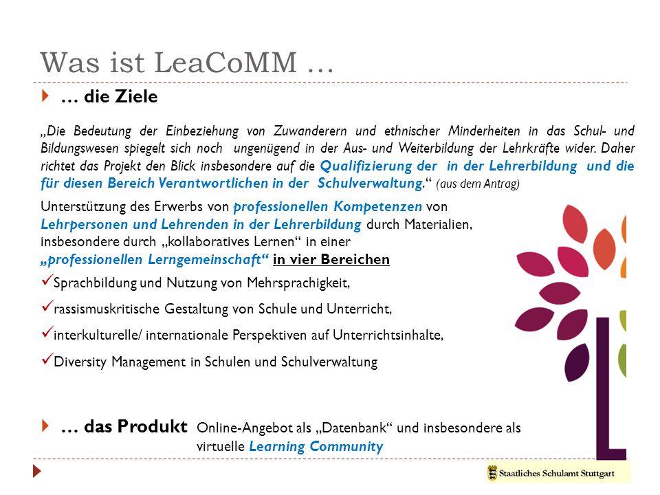 Was ist LeaCoMM … … die Ziele