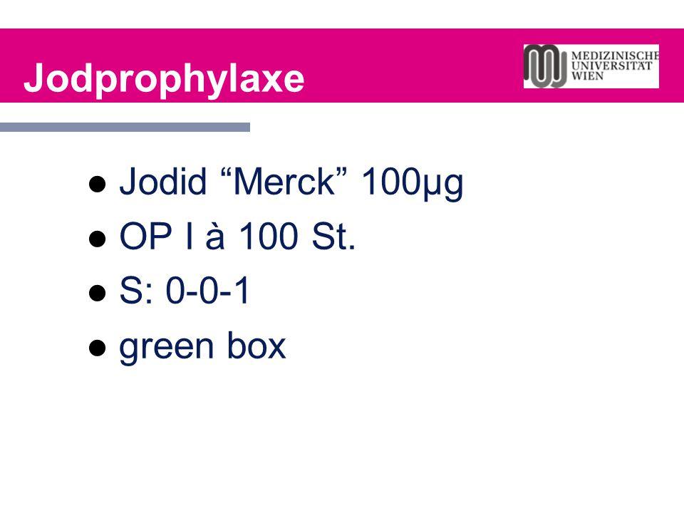 Jodprophylaxe Jodid Merck 100µg OP I à 100 St. S: 0-0-1 green box