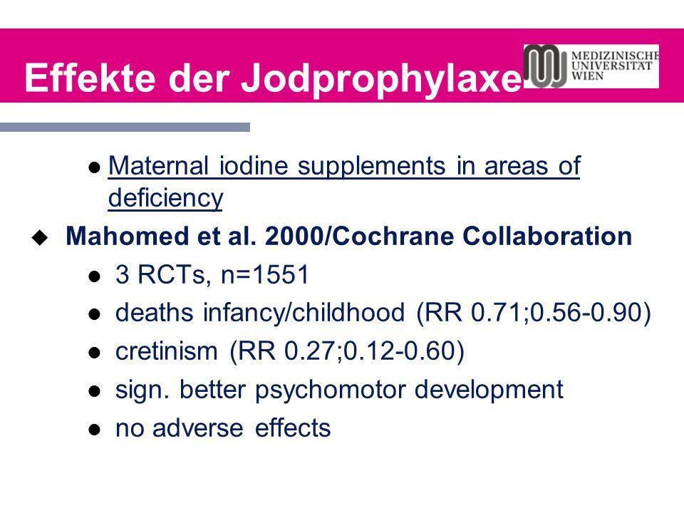 Effekte der Jodprophylaxe