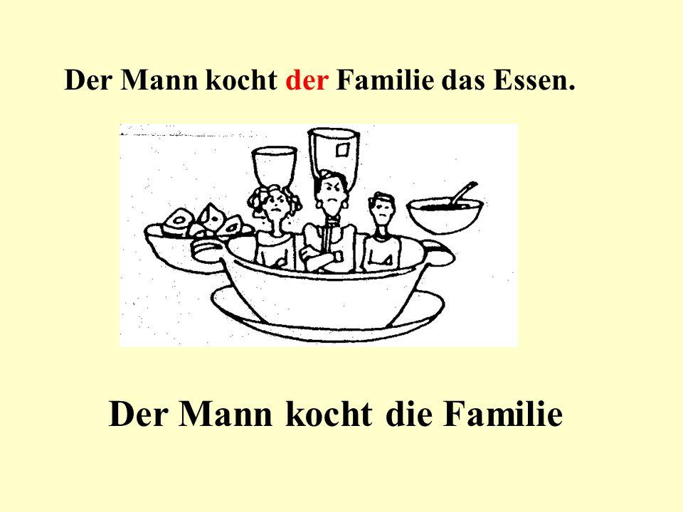 Der Mann kocht die Familie