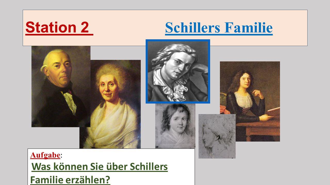 Station 2 Schillers Familie