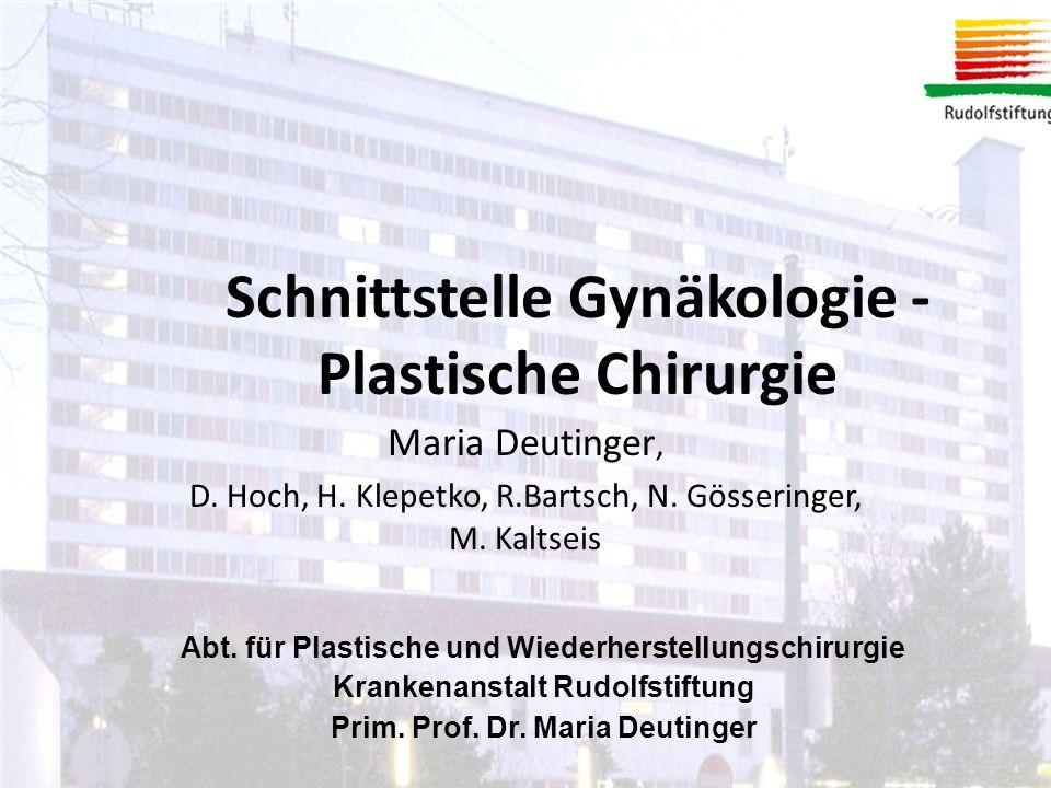 Schnittstelle Gynäkologie - Plastische Chirurgie