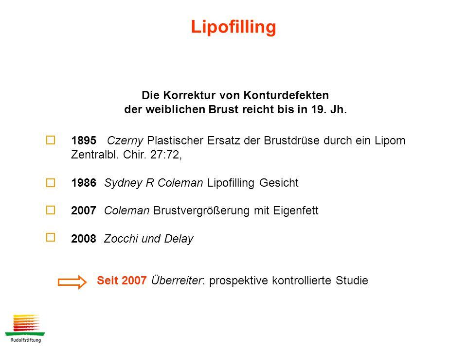 Lipofilling Die Korrektur von Konturdefekten