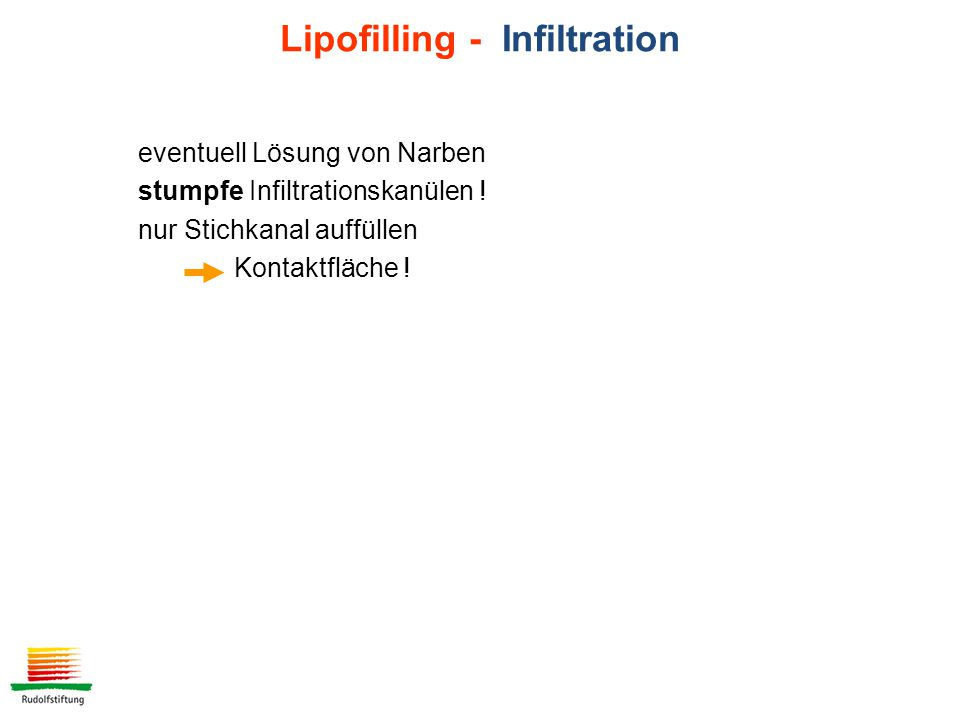 Lipofilling - Infiltration