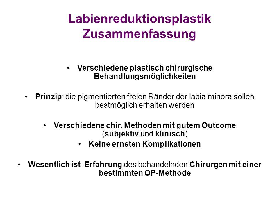 Labienreduktionsplastik Zusammenfassung