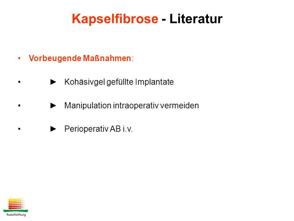 Kapselfibrose - Literatur