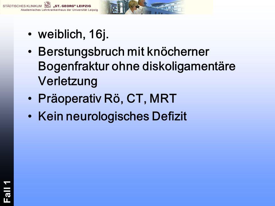 Kein neurologisches Defizit