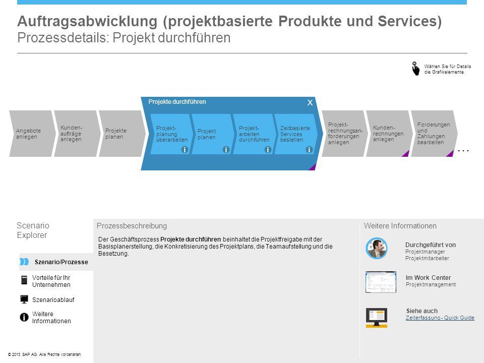 Auftragsabwicklung (projektbasierte Produkte und Services) Prozessdetails: Projekt durchführen