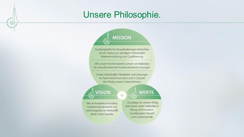 Unsere Philosophie.