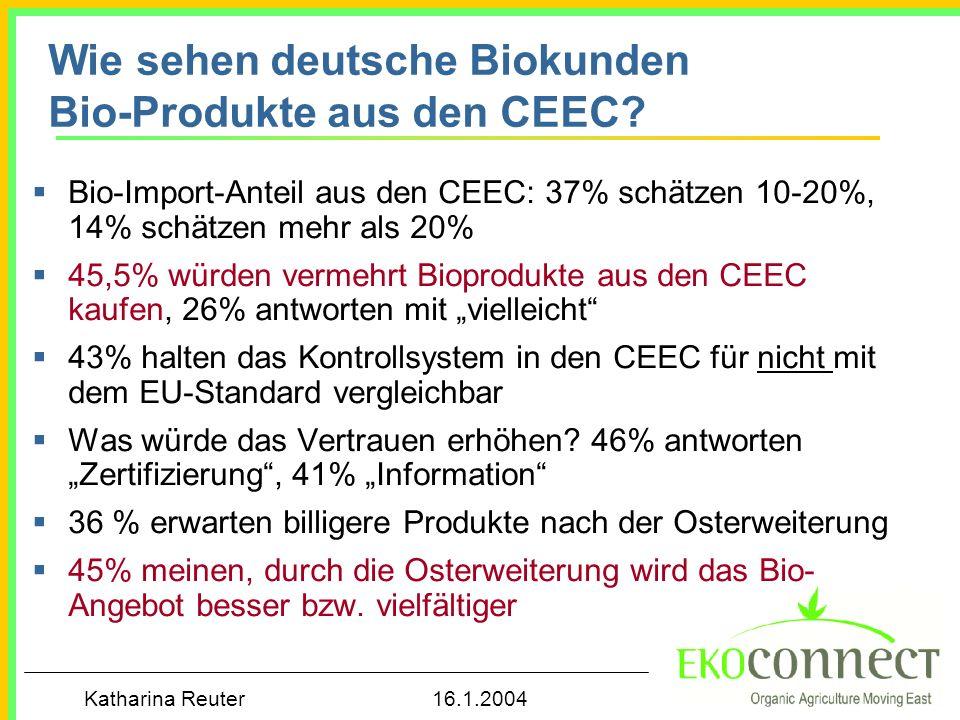 Wie sehen deutsche Biokunden Bio-Produkte aus den CEEC